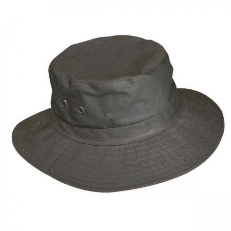 chapeau JMC coton huilé marron